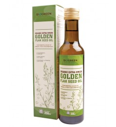 Biogreen Organic Extra Virgin Golden Flaxseed Oil (HALAL) -250ML